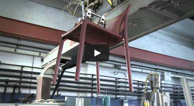 Production process of Magis Air-Chair designed by Jasper Morrison.