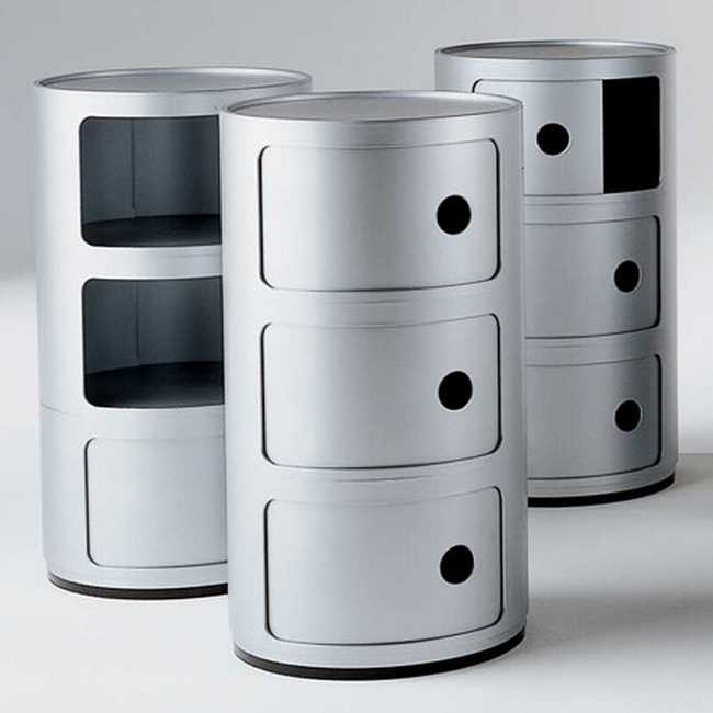 COMPONIBILI Container 3-deurs SILVER