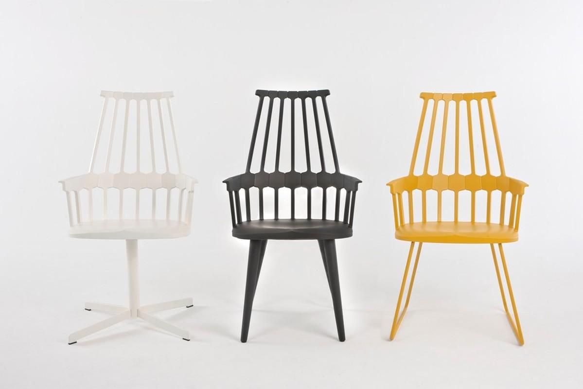 Comback chair kartell partner shop amsterdam kmp for Chaise barreaux