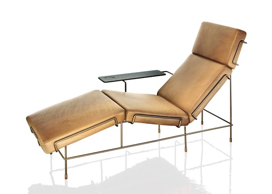 TRAFFIC Chaise Longue in leather