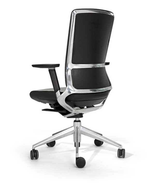 Bureaustoel TNK 500 polished - full leather