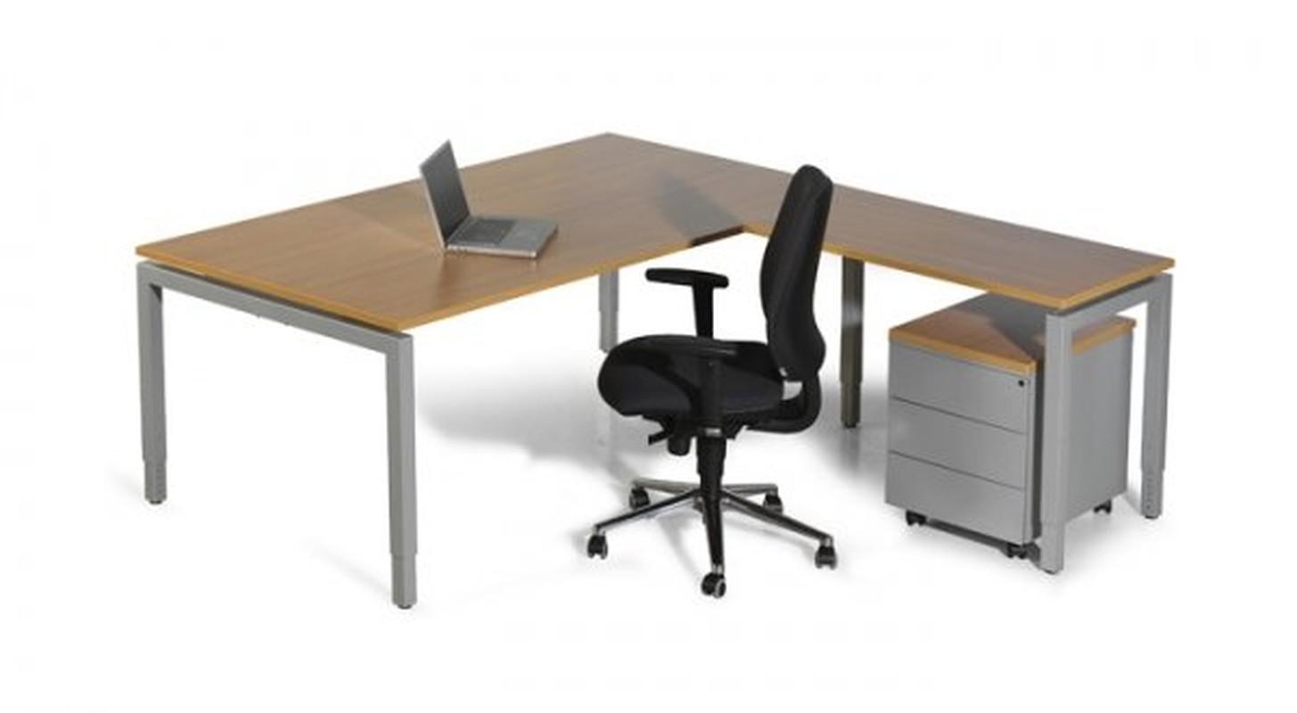 Arca hoekopstelling swan products kmp kantoormeubilair for Swan ladenblok