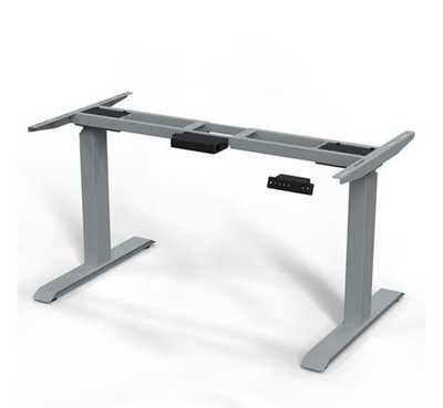 ERGO.RISE zit-sta bureau met Linoleum blad 120cm