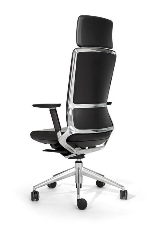 Bureastoel TNK 500 polished - full leather - headrest