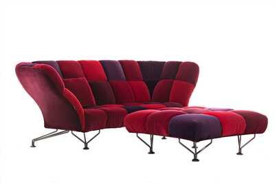 DRIADE 33 Cuscini Sofa Red Velvet.png