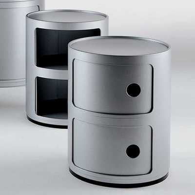 COMPONIBILI Container 2-deurs SILVER