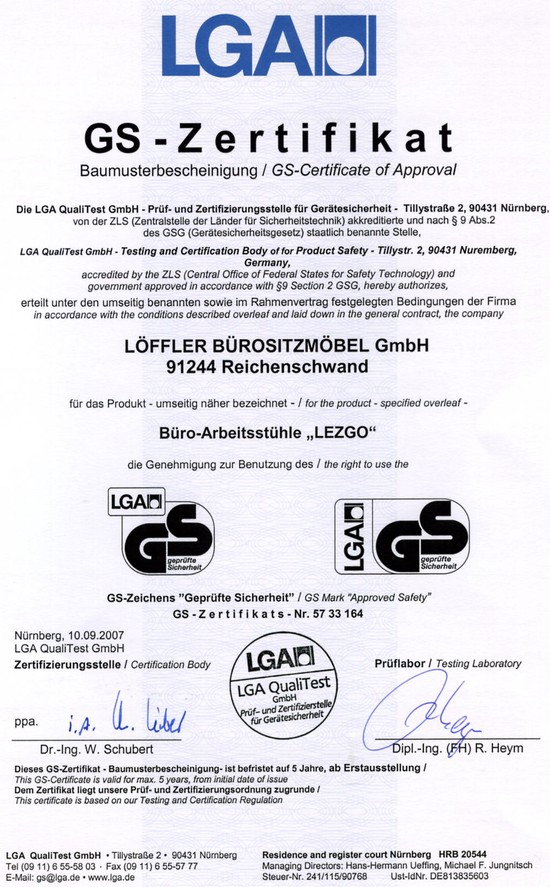 LEZGO LG73 Ergo-Top® Managerstoel
