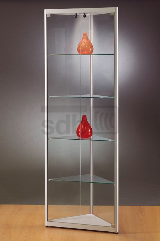 Hoek Vitrinekast Glas.Hoekvitrinekast Mpc 500 H Sdb Vitrinekasten Kmp Kantoormeubilair
