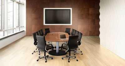 LOGON 620 - V-vormige tafelopstelling voor videoconferentie